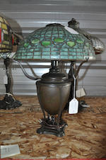 A Tiffany Studios Favrile glass and patinated bronze Acorn table lamp first quarter 20th century