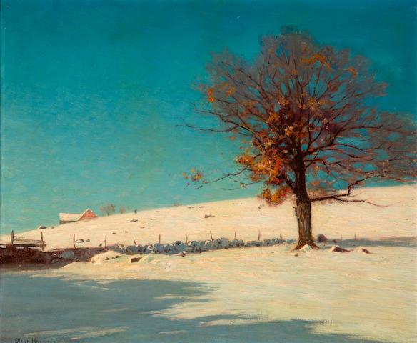 Birge Harrison (American, 1854-1929) Old Oaks Defiance, Woodstock, Vermont 25 x 30in