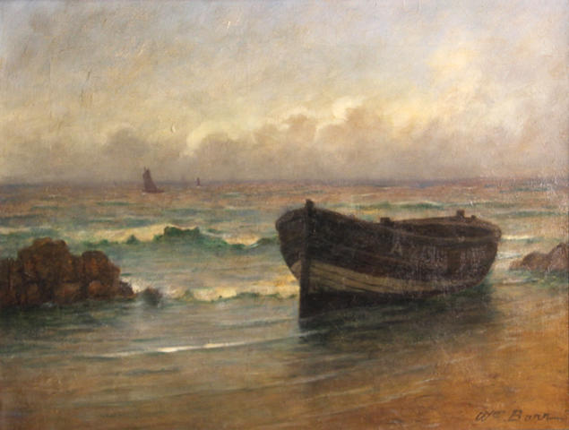 William Barr (British/American, 1867-1933) Stonehaven fishing boat 14 x 18in