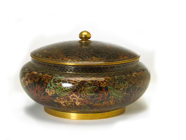 A Chinese cloisonné enameled covered jar 20th century