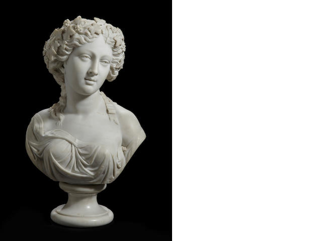 An Italian marble bust of a bacchante<BR />second half 19th century