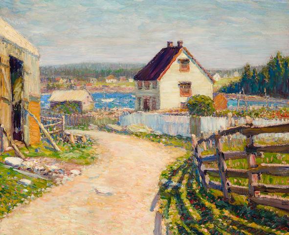 Walt Kuhn (American, 1877-1949) Nova Scotia 33 x 40in