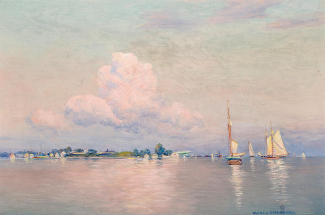 Warren Sheppard, Sailboat in bay