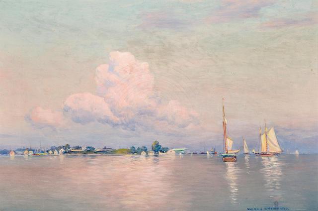 Warren Sheppard, Sailboat in bay