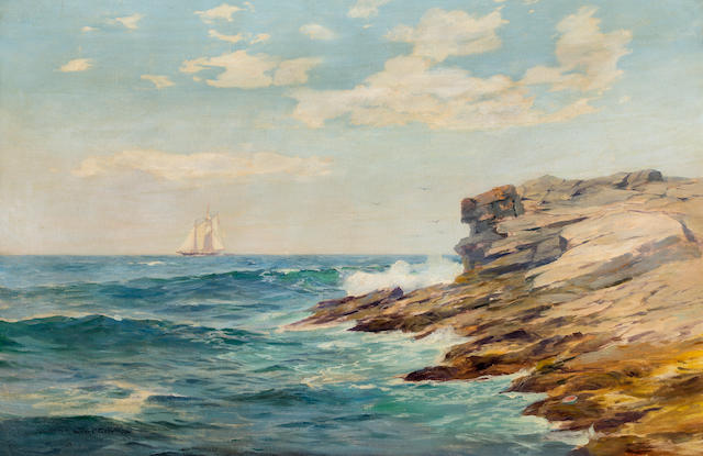 Warren Sheppard, Sailboat near rocks