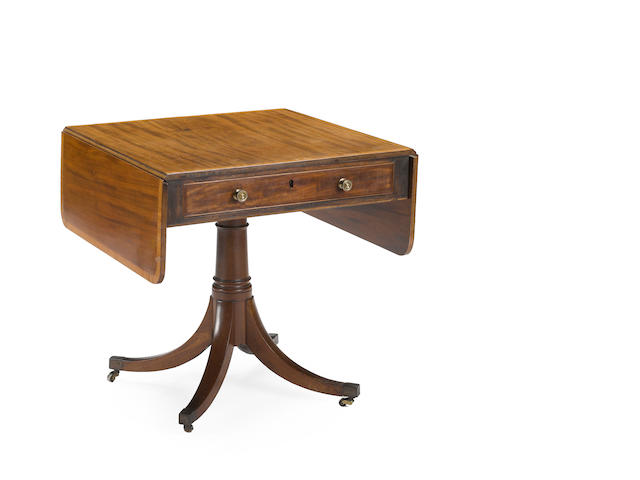 A Regency rosewood inlaid mahogany sofa table<BR />early 19th century