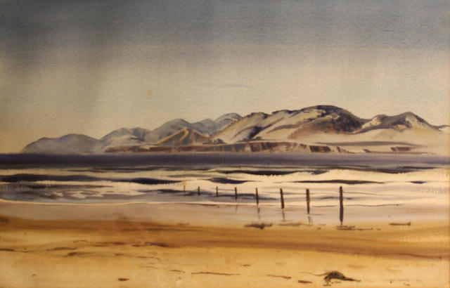 James Milford Zornes (American, 1908-2008) Morning at Pismo, 1929 sight: 14 1/2 x 22 1/4in