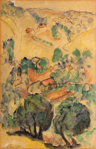 Arthur Durston (American, 1897-1938) Mt. Washington #2 18 1/4 x 12 1/4in