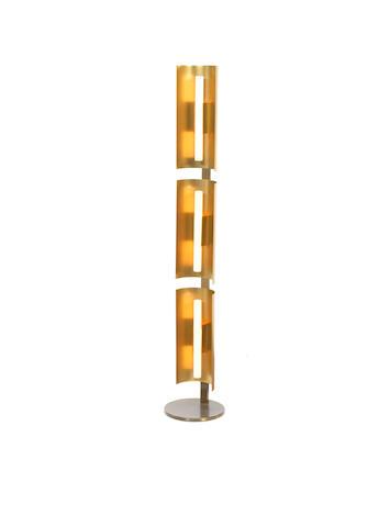A floorlamp by Gio Ponti, Italian From Auditorium Centro Gallini, Voghersa, 1950