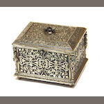 A French Renaissance revival steel dresser box fourth quarter 19th century