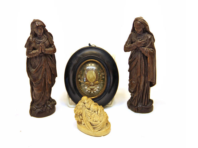 An assembled grouping of religious items second half 19th century