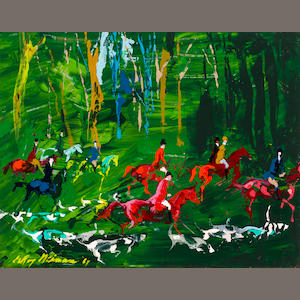 Leroy Neiman, The Hunt Field