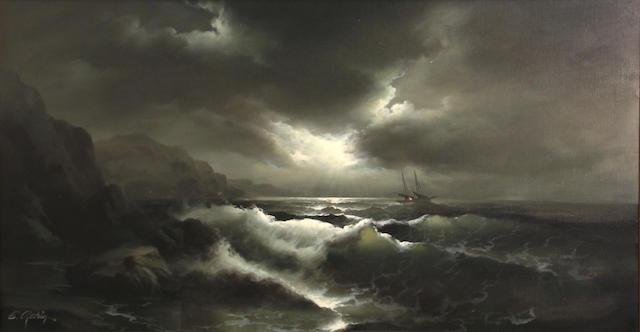 Eugene Garin, Ship at sea, o/c
