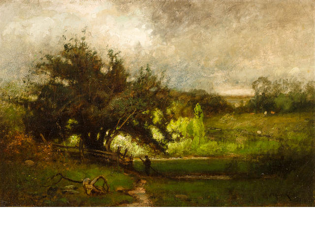 John Francis Murphy (1853-1921) In the Clearing 12 x 18in