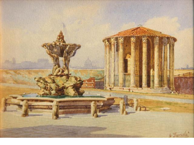 Facciola, Temple of Hercules Victor, wc