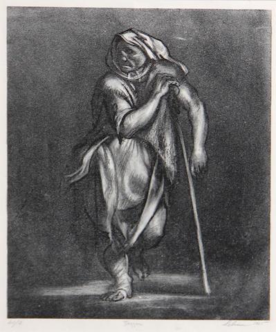 Rico Lebrun (American, 1900-1964); Beggar;