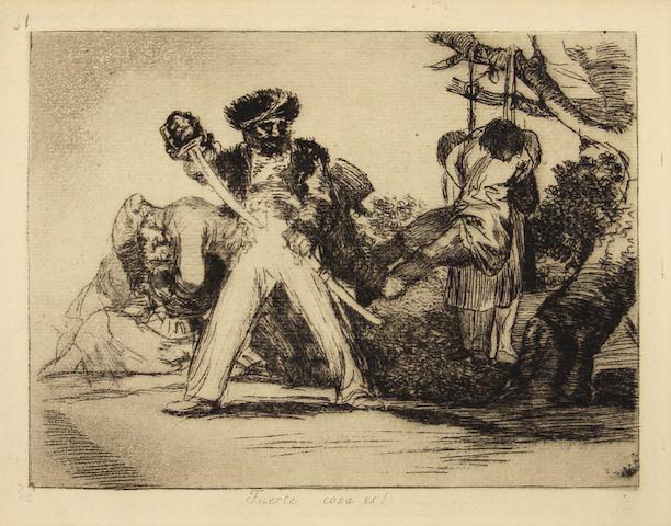 Francisco de Goya (Spanish, 1746-1828); Fuerte Cosa es!, Pl. 31, from Los Desastres de la Guerra;
