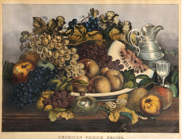 Currier & Ives  (Publishers) (American); American Choice Fruits;