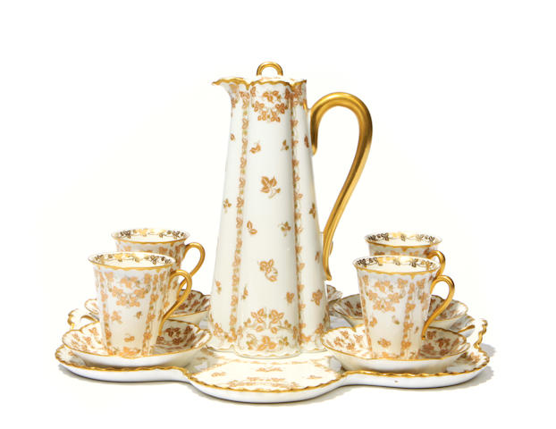 A Limoges Haviland porcelain part tea service