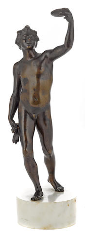 An Italian patinated bronze figure of Bacchus <BR />18th century