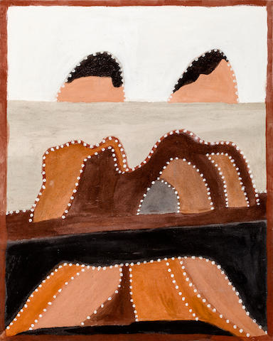 Hector Jandany (ca. 1929-2007) Rock Overhand Tragedy in Ngarrgooroon Country, 2002