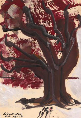 David Alfaro Siqueiros (1896-1974) Árbol de la caridad, 1963 18 x 12in. (45.1 x 30.5cm)