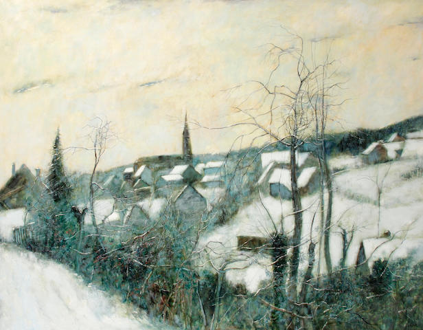 Bernard Gantner (French, born 1928) Neige á giromagny, 1978 45 x 57 1/2in