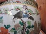 Two polychrome enameled porcelain jardinières