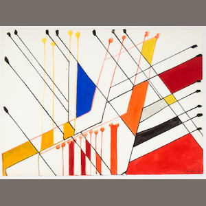 Alexander Calder (1898-1976), AUTHENTICATING Untitled, 1963 22 5/8 x 31 1/8in. (57.5 x 79cm)