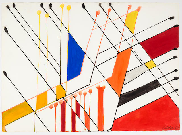 Alexander Calder (1898-1976) Untitled, 1963 22 5/8 x 31 1/8in. (57.5 x 79cm)