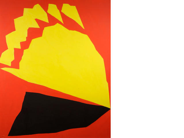 Jack Youngerman, Red, Yellow, Black, 1965, 84 x 72 inches