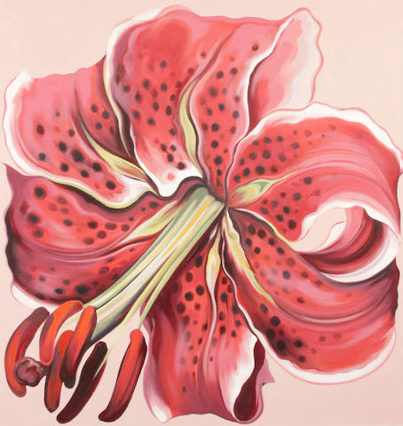 Lowell Nesbitt (American, 1933-1993) Red Lily, 1981 44 x 40in