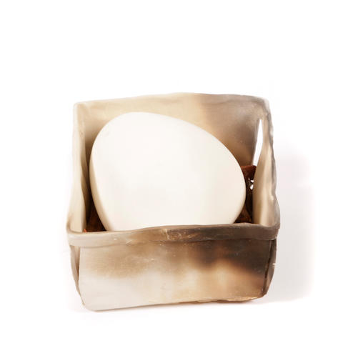 Bradley R. Miller (American, born 1950) Egg in box, 1982 height 5in