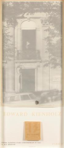 Edward Kienholz (American, 1927-1994) Construction for Centre Nationale d'art Contemporain, 1971 30 x 13 3/4in