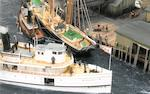 "A diorama ""Frenchman's Bay Rendezvous"" - Moosehead<BR /> 41-3/4 x 17-1/8 x 21-3/4 in. (106 x 43.4 x 55.2 cm.) cased."
