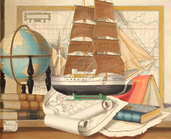 Cerny, Charles; Maritime Still Life; oil on canvas