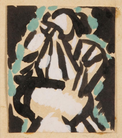 Aaron Douglas Untitled 3 3/4 x 3 1/4in.