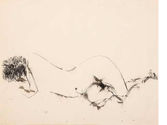 Norman Lewis (1909-1979) Nude, 1951 31 x 25 1/2in. (78.7 x 64.8cm)
