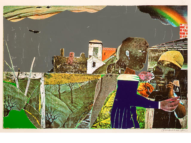 Romare Bearden (1914-1988) Carolina Memory (Tidings), 1970-72 22 x 29 1/4in. (55.9 x 74.3cm)