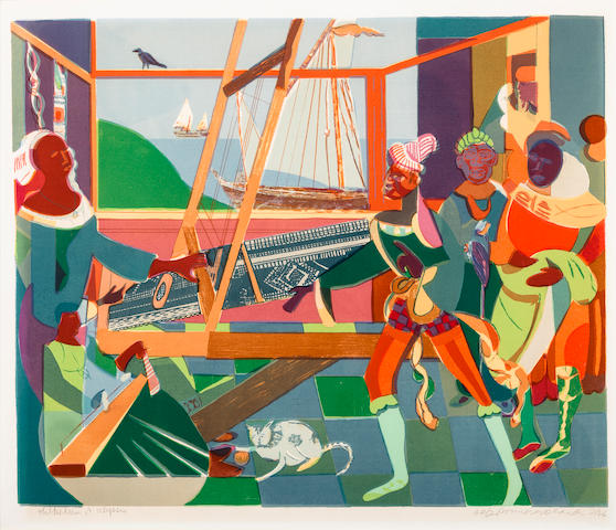 Romare Bearden (1914-1988) Return of Ulysses, 1976 18 3/4 x 22 1/2in. (47.6 x 57.2cm)