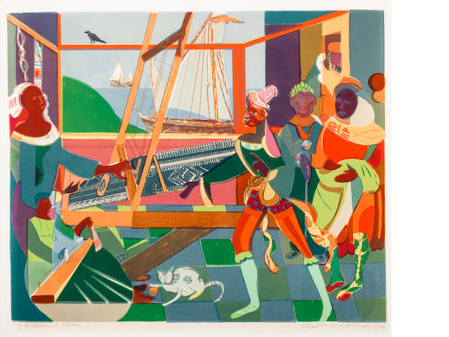 Romare Bearden (1914-1988) Return of Ulysses, 1976 22 1/2 x 30in. (57.1 x 76.2cm)