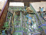 A mixed media figural shadow box Late Qing/Republic period