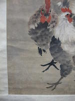 Jin He (Jin Mengshi, 1869-1944) Two hanging scrolls of Roosters and Herons