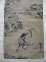 Various Artists (19th century) Two Paintings of Figures in Landscape