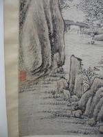Various Artists (19th century) Two hanging scrolls of Landscapes