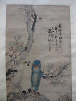 Various Artists (20th century) Two hanging scrolls of Birds and Flowers