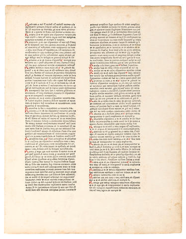 [GUTENBERG, JOHANN.] [BALBUS, JOANNES. Catholicon. Mainz: 1460 but c.1469.]<BR />