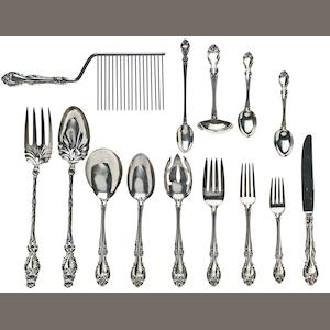 An American sterling silver flatware service for twelve. by Gorham Mfg. Co., Providence, RI, circa 1948