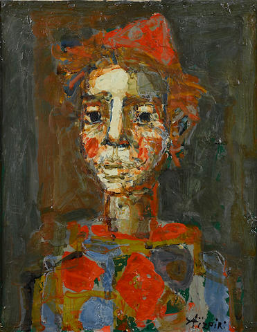 Paul Aizpiri (born 1919) Harlequin 18 7/8 x 15 1/8in. (48 x 38.5cm)