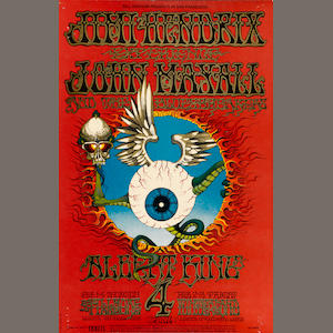 BG-105. Jimi Hendrix. 2/1-4/68. Fillmore. Flying Eyeball. OP-1.